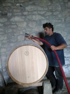 ecco le bellissime tonneaux della tonnellerie Taransaud ..nuovi vini in programma!!!